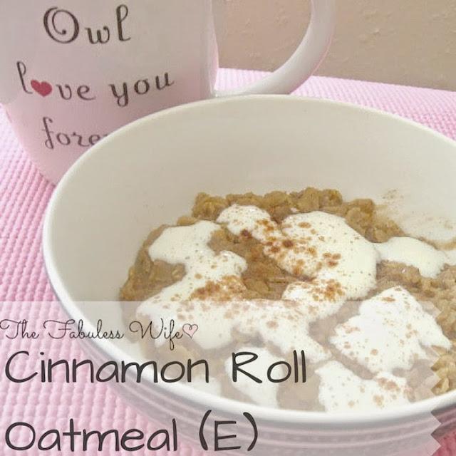 Cinnamon Roll Oatmeal THM (E) Breakfast