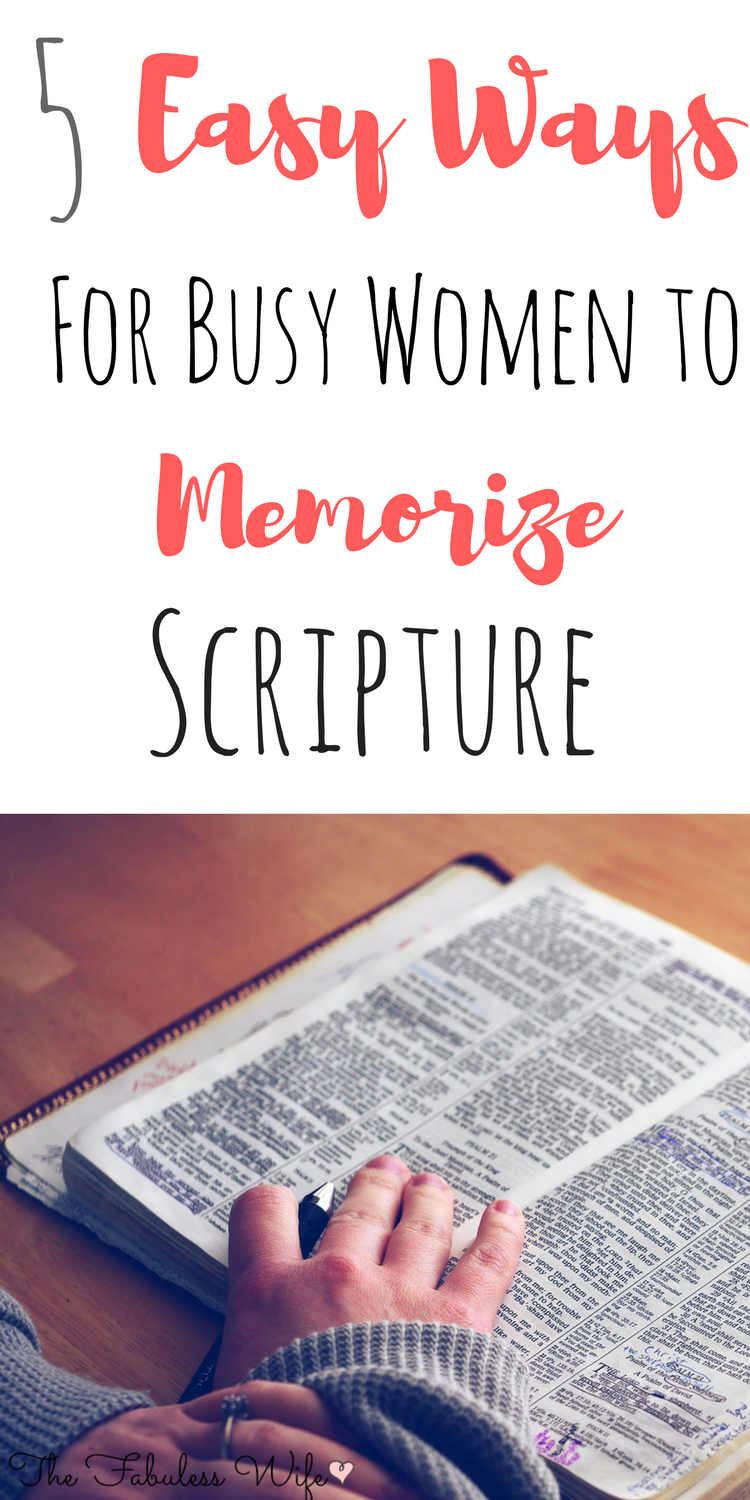 5 Easy Ways for Busy Women to Memorize Scripture